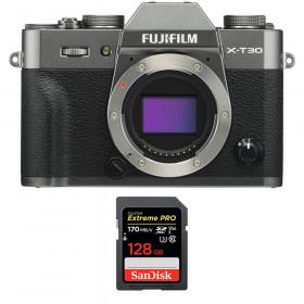 Fujifilm X-T30 Charcoal + SanDisk 128GB Extreme Pro UHS-I SDXC 170 MB/s | 2 Years Warranty