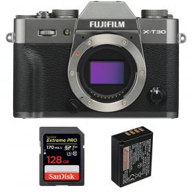 Fujifilm X-T30 Charcoal + SanDisk 128GB Extreme Pro UHS-I SDXC 170 MB/s + Fujifilm NP-W126S | 2 Years Warranty