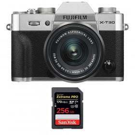 Fujifilm X-T30 + XC 15-45mm f/3.5-5.6 OIS PZ Silver + SanDisk 256GB UHS-I SDXC 170 MB/s | 2 Years Warranty