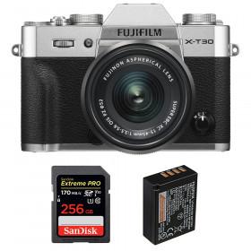 Fujifilm X-T30 + XC 15-45mm f/3.5-5.6 OIS PZ Silver + SanDisk 256GB UHS-I SDXC 170 MB/s + NP-W126S | 2 Years Warranty
