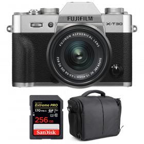 Fujifilm X-T30 + XC 15-45mm f/3.5-5.6 OIS PZ Silver + SanDisk 256GB UHS-I SDXC 170 MB/s + Bag | 2 Years Warranty