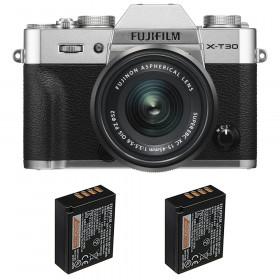 Fujifilm X-T30 + XC 15-45mm f/3.5-5.6 OIS PZ Silver + 2 Fujifilm NP-W126S | 2 Years Warranty