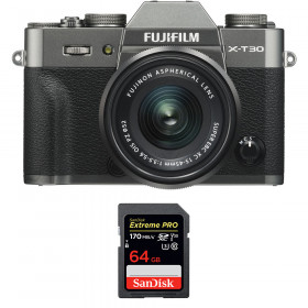 Fujifilm X-T30 + XC 15-45mm f/3.5-5.6 OIS PZ Charcoal + SanDisk 64GB UHS-I SDXC 170 MB/s | 2 Years Warranty