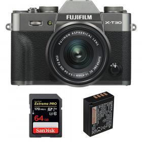 Fujifilm X-T30 + XC 15-45mm f/3.5-5.6 OIS PZ Charcoal + SanDisk 64GB UHS-I SDXC 170 MB/s + NP-W126S | 2 Years Warranty