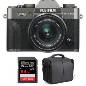 Fujifilm X-T30 + XC 15-45mm f/3.5-5.6 OIS PZ Charcoal + SanDisk 64GB UHS-I SDXC 170 MB/s + Bag | 2 Years Warranty