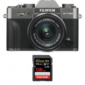 Fujifilm X-T30 + XC 15-45mm f/3.5-5.6 OIS PZ Charcoal + SanDisk 128GB UHS-I SDXC 170 MB/s | 2 Years Warranty