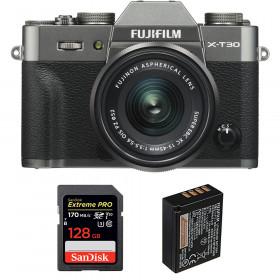 Fujifilm X-T30 + XC 15-45mm f/3.5-5.6 OIS PZ Charcoal + SanDisk 128GB UHS-I SDXC 170 MB/s + NP-W126S | 2 Years Warranty