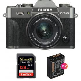 Fujifilm X-T30 + XC 15-45mm f/3.5-5.6 OIS PZ Charcoal + SanDisk 128GB UHS-I SDXC 170 MB/s + 2 NP-W126S | 2 Years Warranty