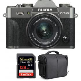 Fujifilm X-T30 + XC 15-45mm f/3.5-5.6 OIS PZ Charcoal + SanDisk 128GB UHS-I SDXC 170 MB/s + Bag | 2 Years Warranty