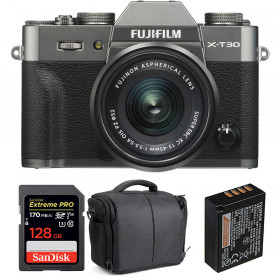 Fujifilm X-T30 + XC 15-45mm f/3.5-5.6 OIS PZ Charcoal + SanDisk 128GB UHS-I 170 MB/s + NP-W126S + Bolsa
