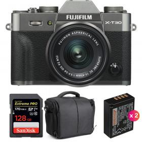 Fujifilm X-T30 + XC 15-45mm f/3.5-5.6 OIS PZ Charcoal + SanDisk 128GB UHS-I 170 MB/s + 2 NP-W126S + Bolsa