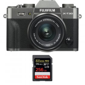 Fujifilm X-T30 + XC 15-45mm f/3.5-5.6 OIS PZ Charcoal + SanDisk 256GB UHS-I SDXC 170 MB/s | 2 Years Warranty