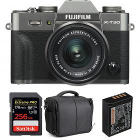 Fujifilm X-T30 + XC 15-45mm f/3.5-5.6 OIS PZ Charcoal + SanDisk 256GB UHS-I 170 MB/s + NP-W126S + Bag | 2 Years Warranty