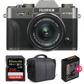 Fujifilm X-T30 + XC 15-45mm f/3.5-5.6 OIS PZ Charcoal + SanDisk 256GB UHS-I 170 MB/s + 2 NP-W126S + Bag | 2 Years Warranty