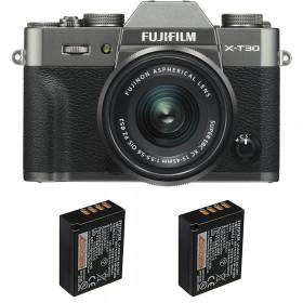 Fujifilm X-T30 + XC 15-45mm f/3.5-5.6 OIS PZ Charcoal + 2 Fujifilm NP-W126S | 2 Years Warranty
