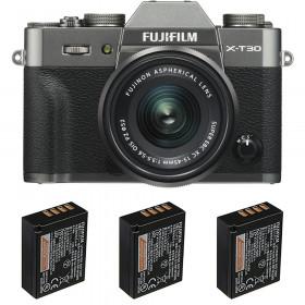 Fujifilm X-T30 + XC 15-45mm f/3.5-5.6 OIS PZ Charcoal + 3 Fujifilm NP-W126S | 2 Years Warranty