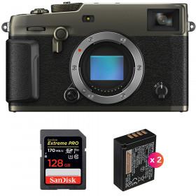 Fujifilm X-PRO3 Cuerpo Dura Black + SanDisk 128GB Extreme Pro UHS-I SDXC 170 MB/s + 2 Fujifilm NP-W126S