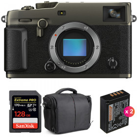 Fujifilm X-PRO3 Cuerpo Dura Black + SanDisk 128GB Extreme Pro UHS-I SDXC 170 MB/s + 2 NP-W126S + Bolsa