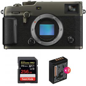 Fujifilm X-PRO3 Cuerpo Dura Black + SanDisk 256GB Extreme Pro UHS-I SDXC 170 MB/s + 2 Fujifilm NP-W126S