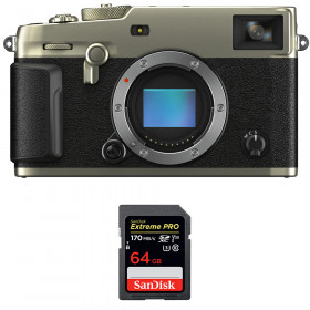 Fujifilm X-Pro3 Body Dura Silver + SanDisk 64GB Extreme Pro UHS-I SDXC 170 MB/s   2 Years Warranty