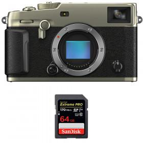 Fujifilm X-Pro3 Cuerpo Dura Silver + SanDisk 64GB Extreme Pro UHS-I SDXC 170 MB/s