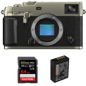 Fujifilm X-Pro3 Body Dura Silver + SanDisk 64GB Extreme Pro UHS-I SDXC 170 MB/s + Fujifilm NP-W126S   2 Years Warranty