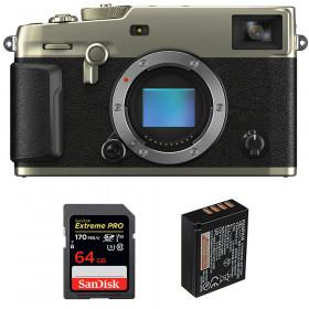 Fujifilm X-Pro3 Cuerpo Dura Silver + SanDisk 64GB Extreme Pro UHS-I SDXC 170 MB/s + Fujifilm NP-W126S