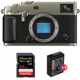 Fujifilm X-Pro3 Cuerpo Dura Silver + SanDisk 64GB Extreme Pro UHS-I SDXC 170 MB/s + 2 Fujifilm NP-W126S