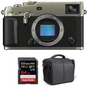 Fujifilm X-Pro3 Cuerpo Dura Silver + SanDisk 64GB Extreme Pro UHS-I SDXC 170 MB/s + Bolsa