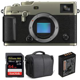Fujifilm X-Pro3 Cuerpo Dura Silver + SanDisk 64GB Extreme Pro UHS-I SDXC 170 MB/s + NP-W126S + Bolsa