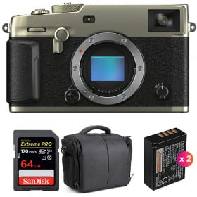 Fujifilm X-Pro3 Cuerpo Dura Silver + SanDisk 64GB Extreme Pro UHS-I SDXC 170 MB/s + 2 NP-W126S + Bolsa