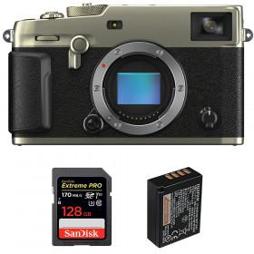 Fujifilm X-Pro3 Body Dura Silver + SanDisk 128GB Extreme Pro UHS-I SDXC 170 MB/s + Fujifilm NP-W126S | 2 Years Warranty
