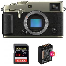 Fujifilm X-Pro3 Cuerpo Dura Silver + SanDisk 128GB Extreme Pro UHS-I SDXC 170 MB/s + 2 Fujifilm NP-W126S