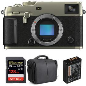 Fujifilm X-Pro3 Cuerpo Dura Silver + SanDisk 128GB Extreme Pro UHS-I SDXC 170 MB/s + NP-W126S + Bolsa