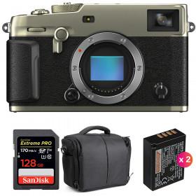 Fujifilm X-Pro3 Cuerpo Dura Silver + SanDisk 128GB Extreme Pro UHS-I SDXC 170 MB/s + 2 NP-W126S + Bolsa