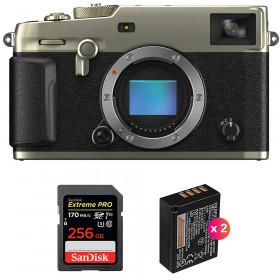 Fujifilm X-Pro3 Cuerpo Dura Silver + SanDisk 256GB Extreme Pro UHS-I SDXC 170 MB/s + 2 Fujifilm NP-W126S
