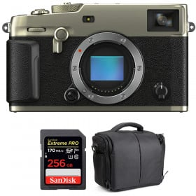 Fujifilm X-Pro3 Cuerpo Dura Silver + SanDisk 256GB Extreme Pro UHS-I SDXC 170 MB/s + Bolsa