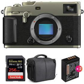 Fujifilm X-Pro3 Cuerpo Dura Silver + SanDisk 256GB Extreme Pro UHS-I SDXC 170 MB/s + 2 NP-W126S + Bolsa