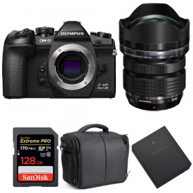 Olympus OM-D E-M1 Mark III + ED 7-14mm f/2.8 PRO + SanDisk 128GB Extreme Pro UHS-I 170 MB/s + BLH-1 + Bag   2 Years Warranty