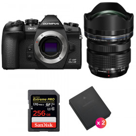Olympus OM-D E-M1 Mark III + ED 7-14mm f/2.8 PRO + SanDisk 256GB Extreme Pro UHS-I 170 MB/s + 2 BLH-1   2 Years Warranty