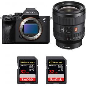 Sony Alpha a7S III + FE 24mm f/1.4 GM + 2 SanDisk 32GB Extreme PRO UHS-II SDXC 300 MB/s   2 Years Warranty