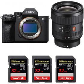 Sony Alpha a7S III + FE 24mm f/1.4 GM + 3 SanDisk 32GB Extreme PRO UHS-II SDXC 300 MB/s   2 Years Warranty