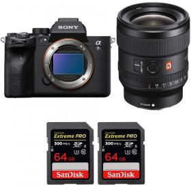 Sony Alpha a7S III + FE 24mm f/1.4 GM + 2 SanDisk 64GB Extreme PRO UHS-II SDXC 300 MB/s   2 Years Warranty