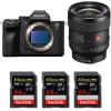 Sony Alpha a7S III + FE 24mm f/1.4 GM + 3 SanDisk 64GB Extreme PRO UHS-II SDXC 300 MB/s   2 Years Warranty