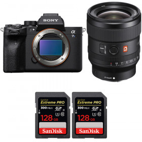 Sony Alpha a7S III + FE 24mm f/1.4 GM + 2 SanDisk 128GB Extreme PRO UHS-II SDXC 300 MB/s   2 Years Warranty