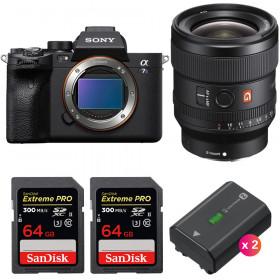 Sony Alpha a7S III + FE 24mm f/1.4 GM + 2 SanDisk 64GB Extreme PRO UHS-II SDXC 300 MB/s + 2 Sony NP-FZ100   2 Years Warranty