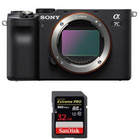 Sony Alpha a7C Body Black + SanDisk 32GB Extreme PRO UHS-II SDXC 300 MB/s   2 Years Warranty