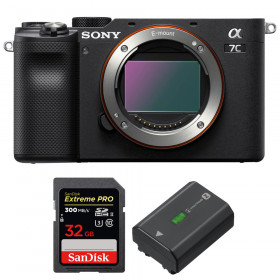 Sony Alpha a7C Nu Noir + SanDisk 32GB Extreme PRO UHS-II SDXC 300 MB/s + Sony NP-FZ100