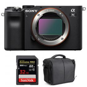 Sony Alpha a7C Body Black + SanDisk 32GB Extreme PRO UHS-II SDXC 300 MB/s + Bag   2 Years Warranty