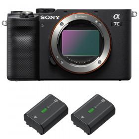 Sony Alpha a7C Nu Noir + 2 Sony NP-FZ100
